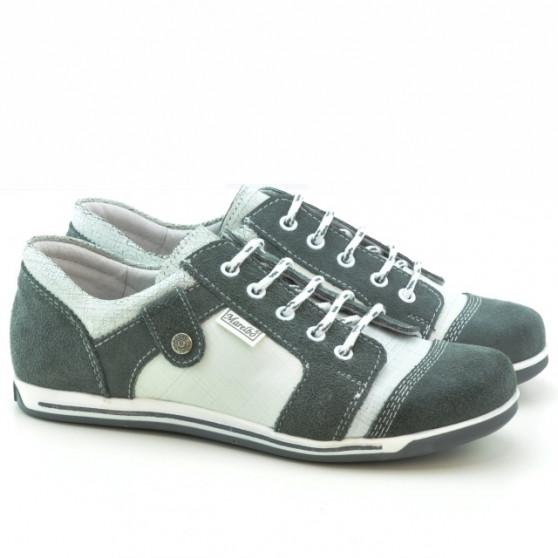 Pantofi sport dama 143-1 bufo gri+alb