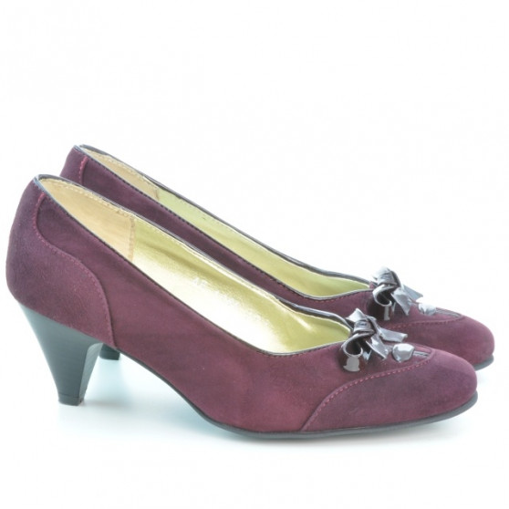 Pantofi eleganti dama 1064 bordo antilopa