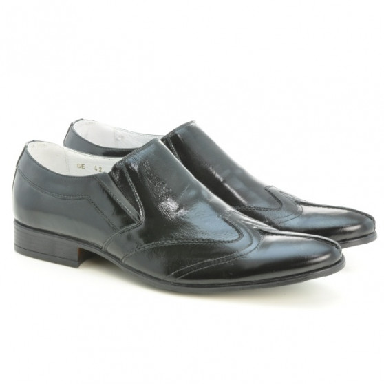 Men stylish, elegant shoes 995 patent black