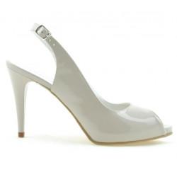 Sandale dama 1250 lac bej sidef