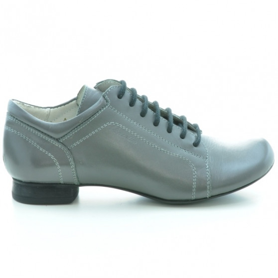 Pantofi casual dama 645 gri talpa neagra