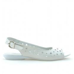 Sandale dama 5020 alb sidef