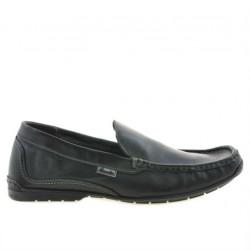 Men loafers, moccasins 813 black
