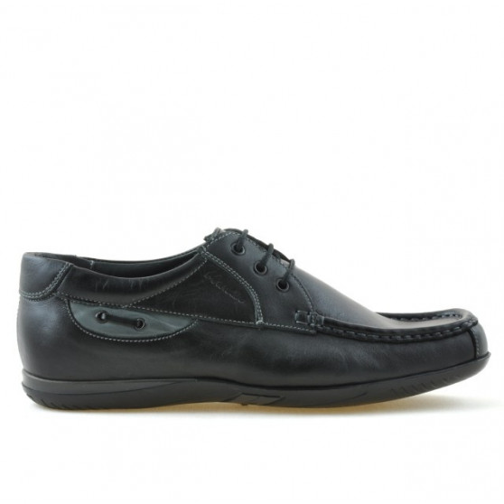 Men loafers, moccasins 718 black