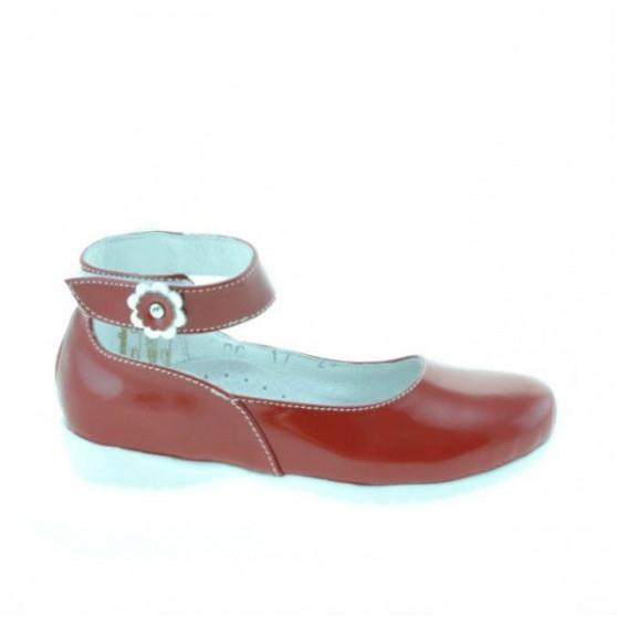 Pantofi copii mici 17c lac rosu