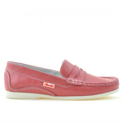 Women loafers, moccasins 661 red coral