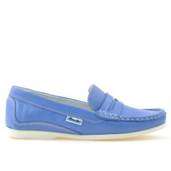 Women loafers, moccasins 661 blue