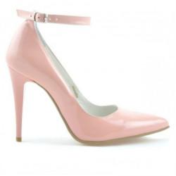 Pantofi eleganti dama 1247 lac roz
