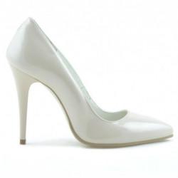 Pantofi eleganti dama 1241 lac ivoriu