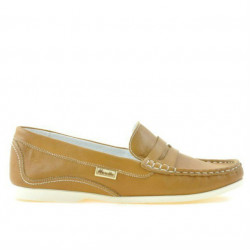 Women loafers, moccasins 661 brown cerat