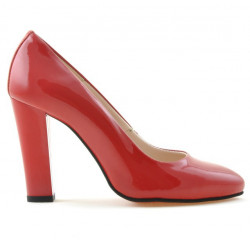 Women stylish, elegant shoes 1214 patent red