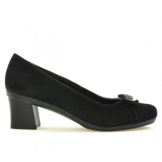 Pantofi casual / eleganti dama 628 negru velur