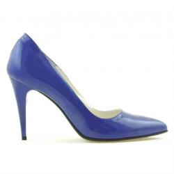 Pantofi eleganti dama 1246 lac albastru