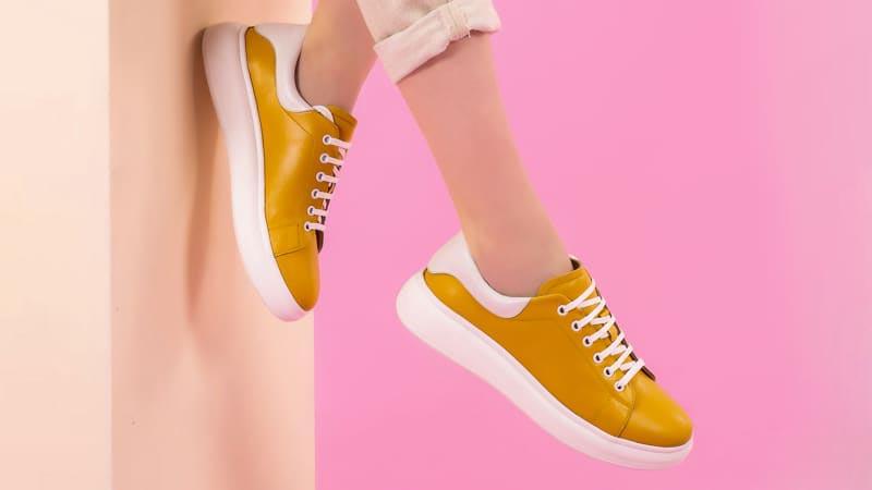 pantofi sport femei galben