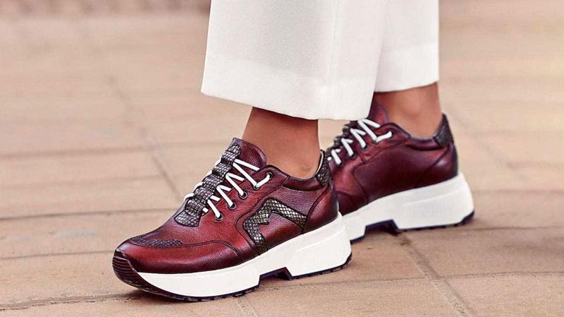 pantofi sport femei bordo