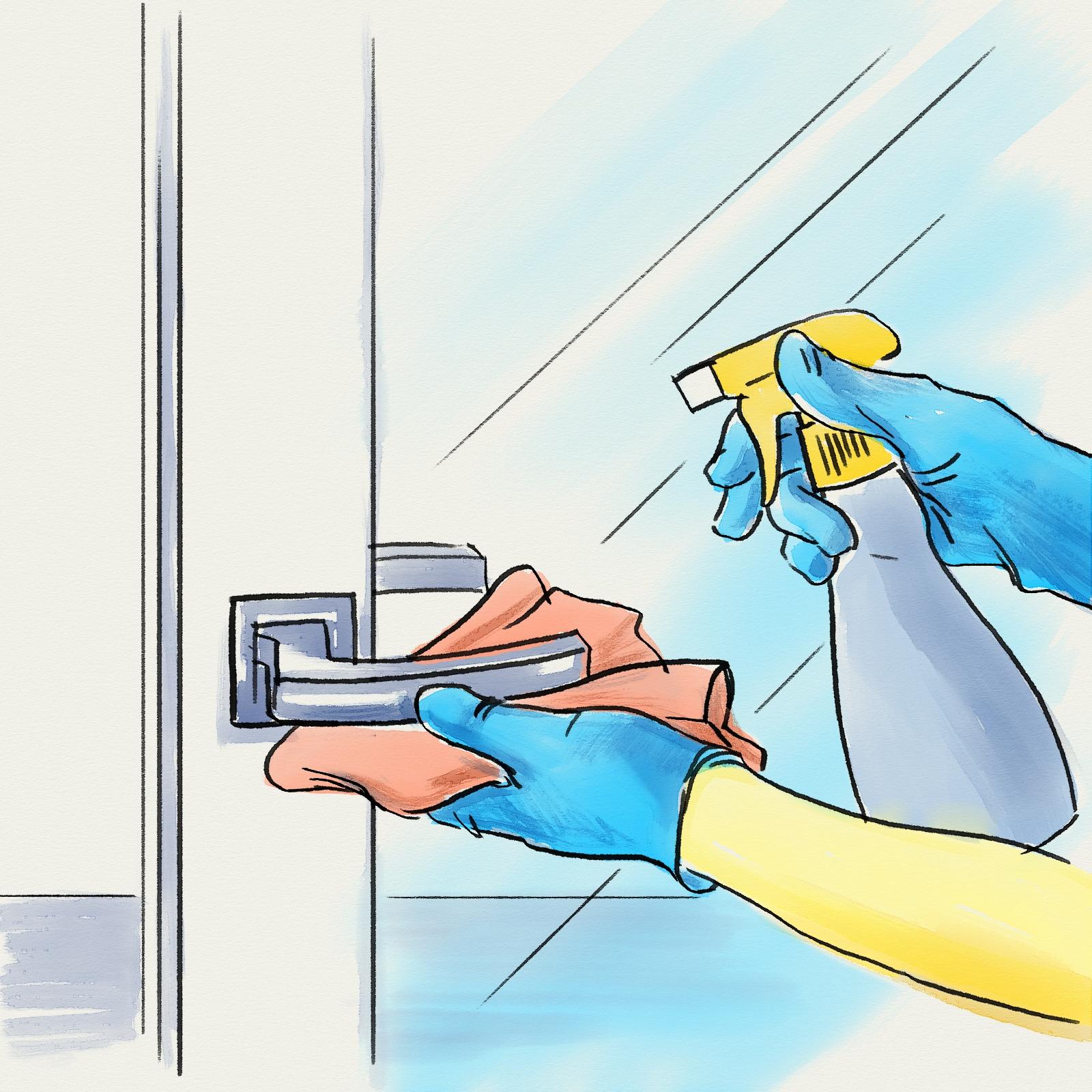 dezinfectare usi