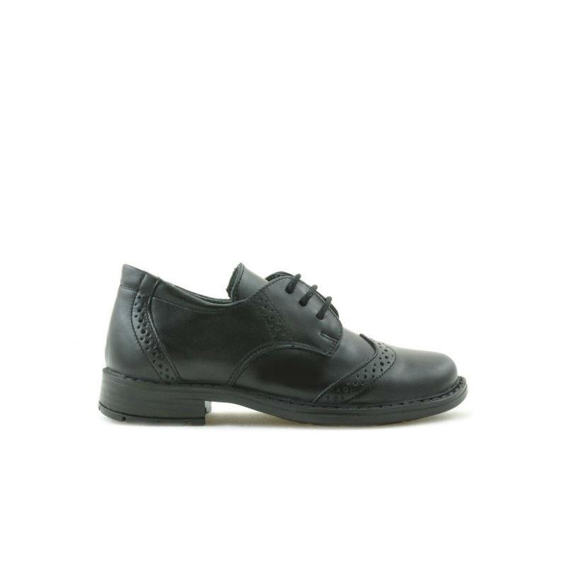 Pantofi copii mici 52c negru. Pret accesibil. Piele naturala.