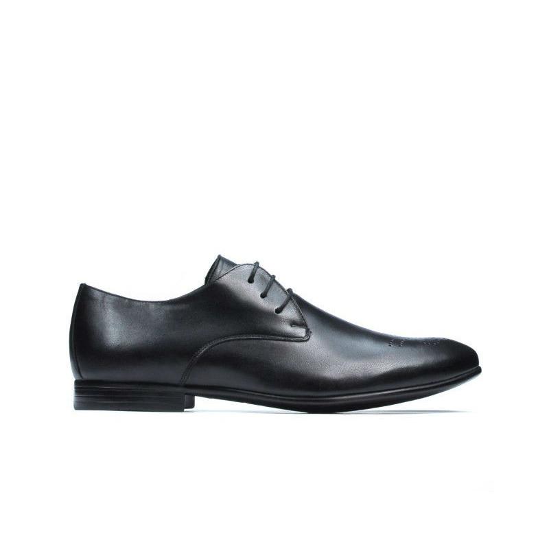 Pantofi eleganti barbati 828 negru. Pret accesibil. Piele naturala.