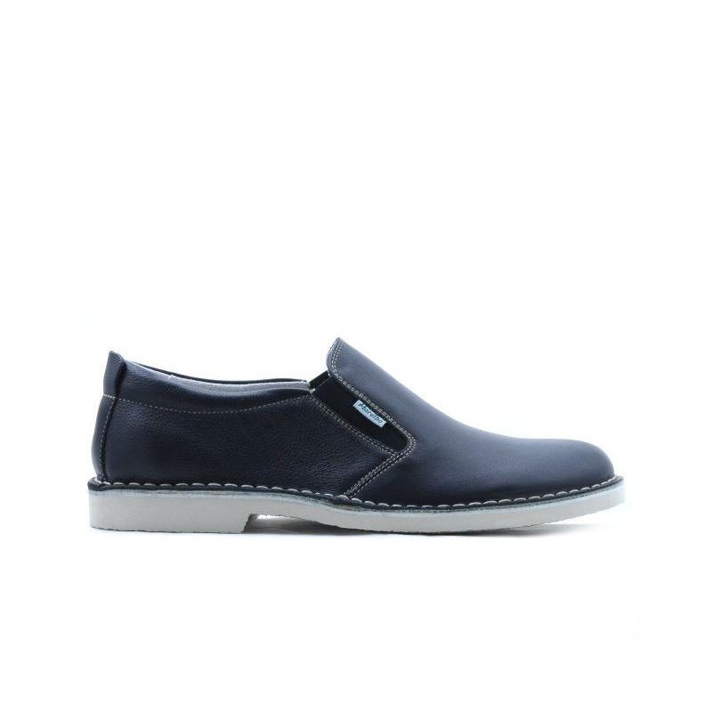 Pantofi casual barbati 7200 indigo. Pret accesibil. Piele naturala.