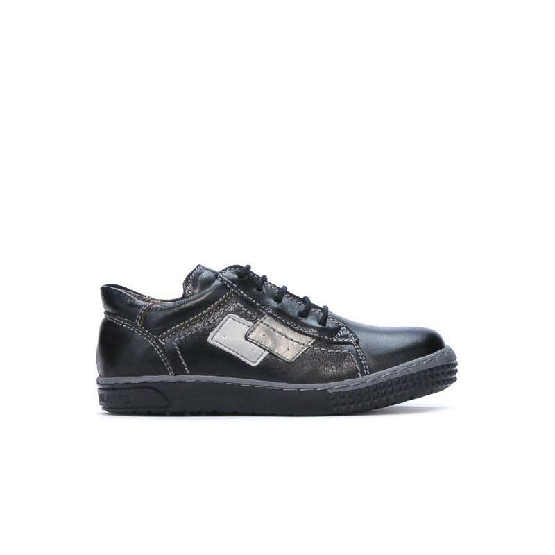 Pantofi copii mici 57-1c negru. Pret accesibil. Piele naturala.