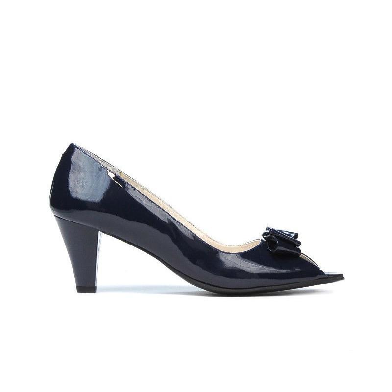 Sandale dama 1255 lac indigo. Pret accesibil. Piele naturala.