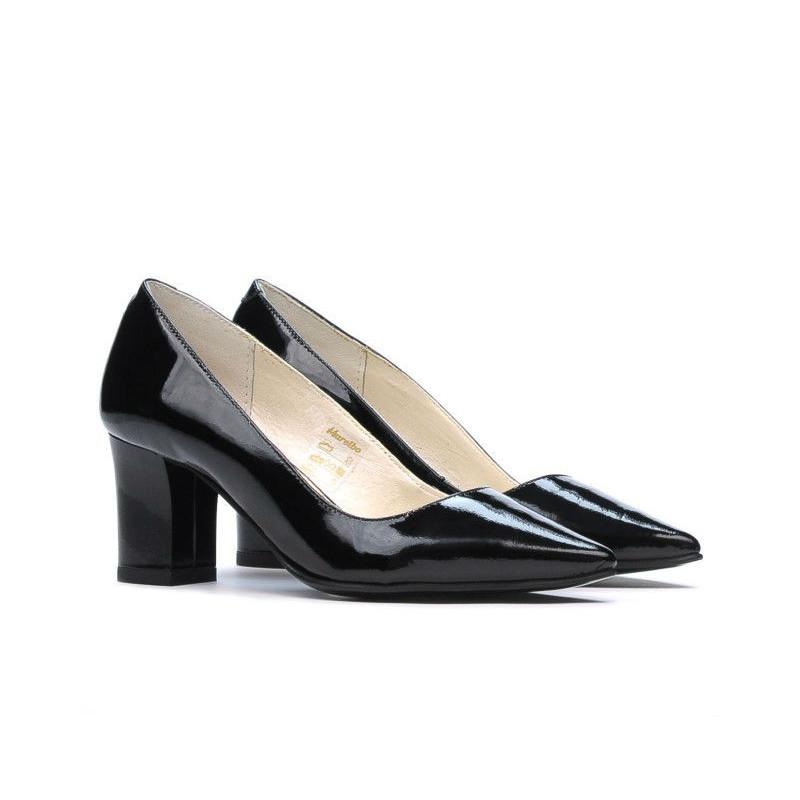 Pantofi eleganti dama 1253 lac negru. Pret accesibil. Piele naturala.