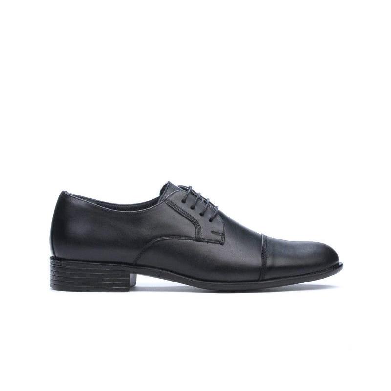 Pantofi eleganti barbati 838 negru. Pret accesibil. Piele naturala.