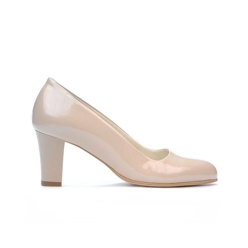 Pantofi eleganti dama 1209 lac bej sidef. Pret accesibil. Piele naturala.