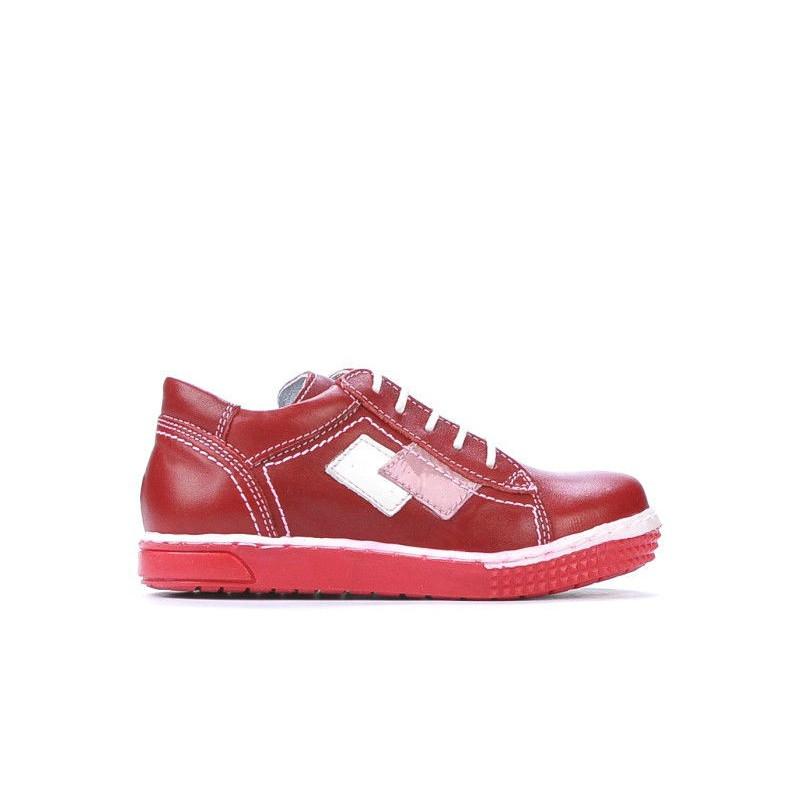 Pantofi copii mici 57-1c rosu. Pret accesibil. Piele naturala.