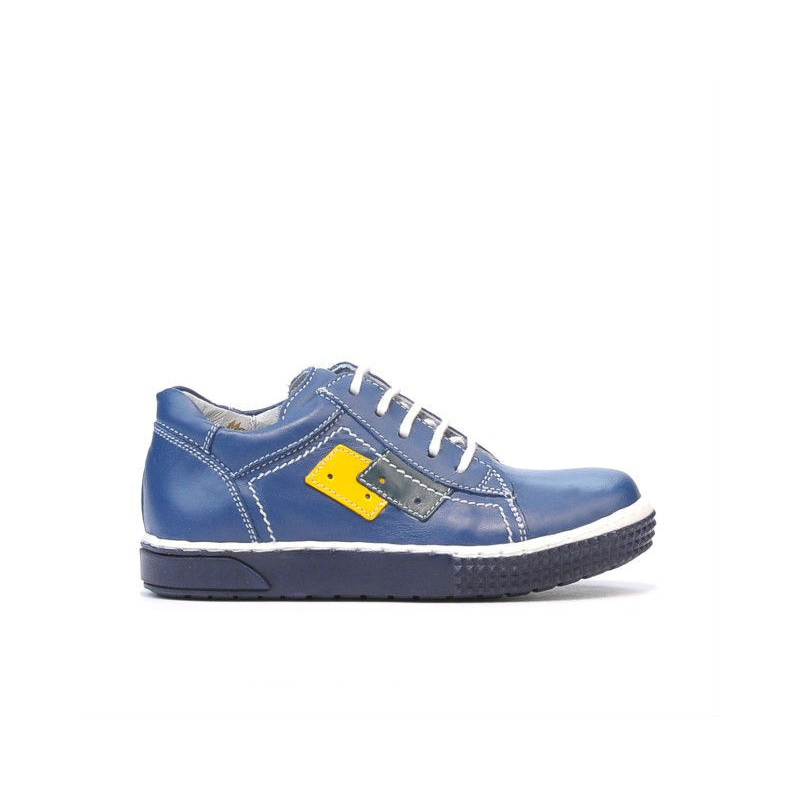 Pantofi copii mici 57-1c indigo. Pret accesibil. Piele naturala.
