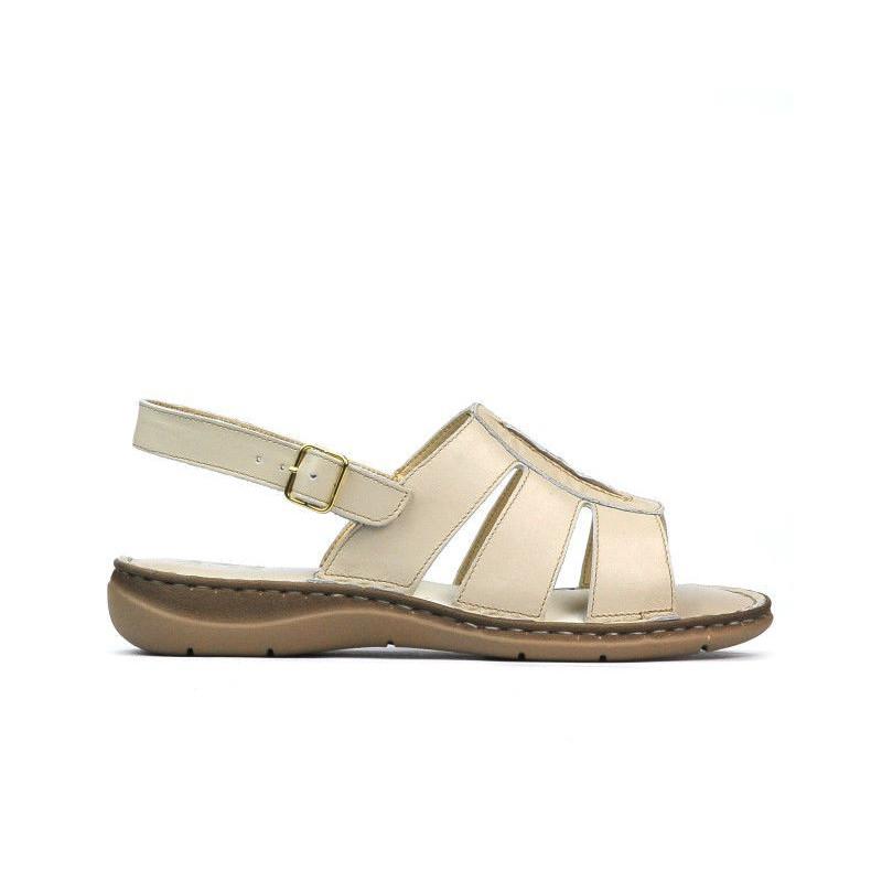Sandale dama 5043 bej. Pret accesibil. Piele naturala.