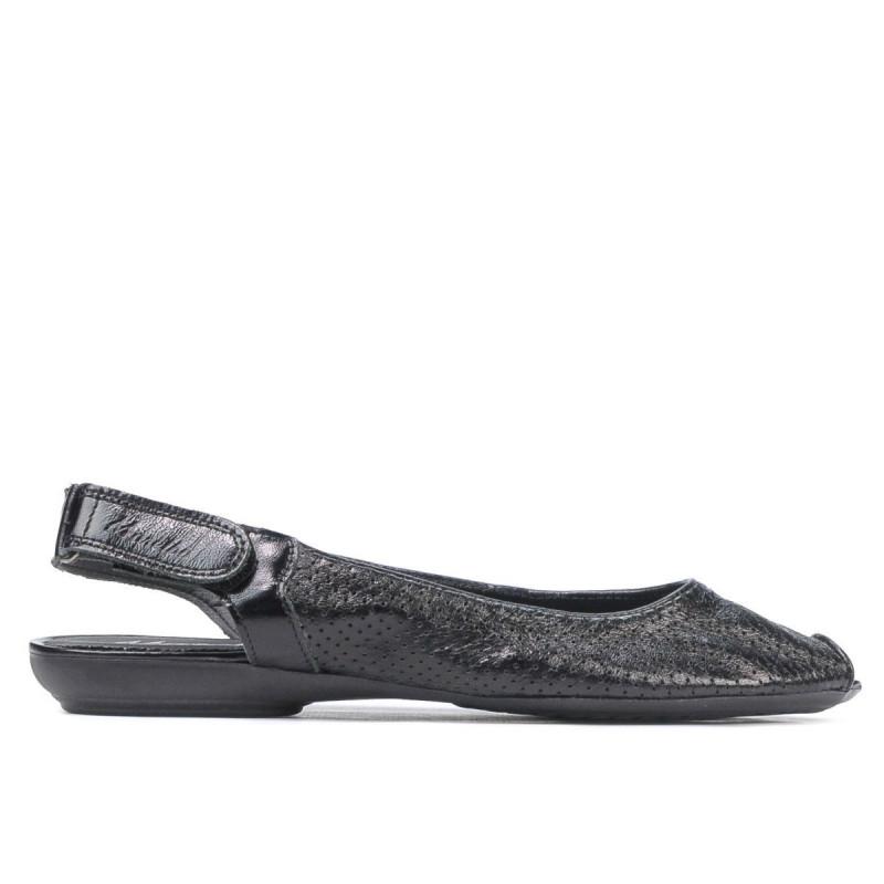 Sandale dama 583 negru. Pret accesibil. Piele naturala.