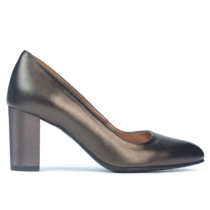Pantofi eleganti dama 1273 maro sidef. Pret accesibil. Piele naturala.
